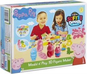 Juguetes y cuentos de Peppa Pig | Set para la creación de personajes en 3D con plastilina | A partir de 3 años