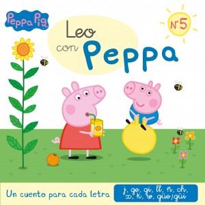 Juguetes y cuentos de Peppa Pig | Un cuento para cada letra: j, ge, gi, ll, ñ, ch, x, k, w, güe-güi | A partir de 4 años | 48 páginas