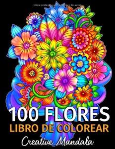 Libros de mandalas para adultos | 100 flores