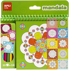 Mandalas para niños | Bloc pinta y colorea Mandala | A partir de 3 años