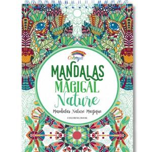 Libros de mandalas para adultos | Mandalas Magical Nature