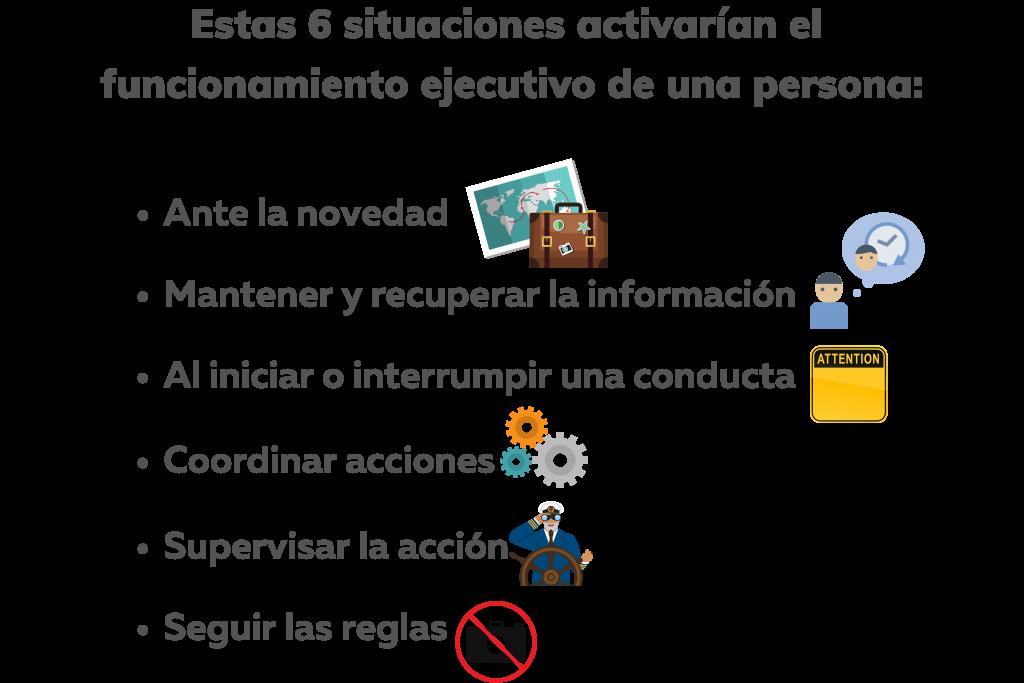 Las funciones ejecutivas