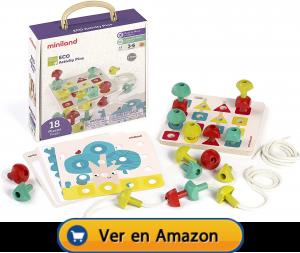 Motricidad fina | Actividades, juegos y juguetes | Juego de pinchos con formas básicas | A partir de 3 años