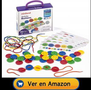 Motricidad fina | Actividades, juegos y juguetes | Botones para coser | A partir de 3 años