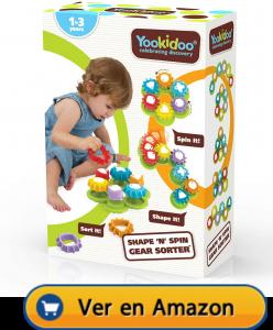Motricidad fina | Actividades, juegos y juguetes | Yookidoo Shape 'N' Spin Gear Sorter | A partir de 1 año