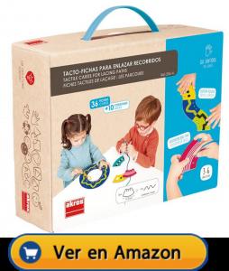 Motricidad fina | Actividades, juegos y juguetes | Tacto-fichas para enlazar recorridos | A partir de 3 años