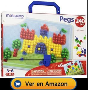 Motricidad fina | Actividades, juegos y juguetes | Maletín de mosaicos de Ø 10 mm | A partir de 3 años