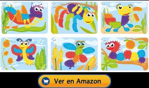 Motricidad fina | Actividades, juegos y juguetes | Láminas para maletín de mosaicos de Ø 10 mm | A partir de 3 años