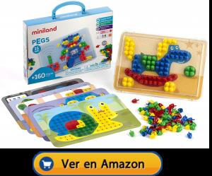 Motricidad fina | Actividades, juegos y juguetes | Maletín de mosaicos de Ø 15 mm | A partir de 3 años