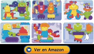 Motricidad fina | Actividades, juegos y juguetes | Láminas para maletín de mosaicos de Ø 15 mm | A partir de 3 años