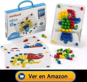 Motricidad fina | Actividades, juegos y juguetes | Maletín de mosaicos de Ø 20 mm | A partir de 3 años