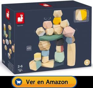 Motricidad fina | Actividades, juegos y juguetes | Piedras de madera para apilar | A partir de 2 años