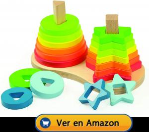Motricidad fina | Actividades, juegos y juguetes | Apilable arco iris | A partir de 1 año