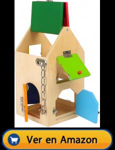 Motricidad fina | Actividades, juegos y juguetes | Casa de cerraduras | A partir de 3 años
