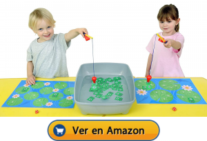 Motricidad fina | Actividades, juegos y juguetes | Pescando ranas magnéticas | A partir de 3 años