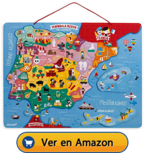 Motricidad fina | Actividades, juegos y juguetes | Mapa magnético de España | A partir de 5 años