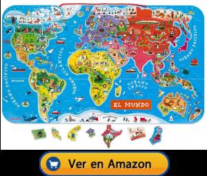 Motricidad fina | Actividades, juegos y juguetes | Mapa magnético mundial | A partir de 7 años