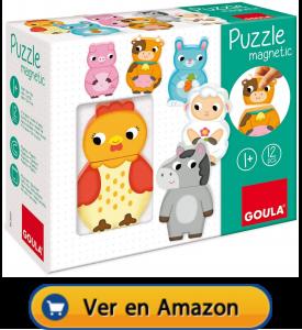 Motricidad fina | Actividades, juegos y juguetes | Puzzle magnético de animales de la granja | A partir de 1 año