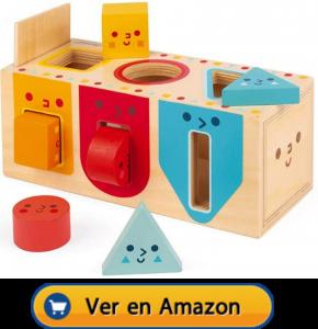 Motricidad fina | Actividades, juegos y juguetes | Caja de madera con formas geométricas | A partir de 1 año