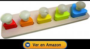 Motricidad fina | Actividades, juegos y juguetes | Puzles con pomos | A partir de 1 año
