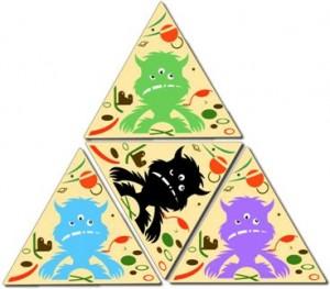 Juegos de cartas para niños   Trio Monsters   A partir de 6 años